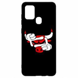 Чехол для Samsung A21s Chicago Bulls бык