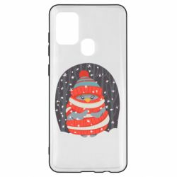 Чехол для Samsung A21s Christmas Sweet Penguin
