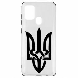Чехол для Samsung A21s Coat of arms of Ukraine torn inside