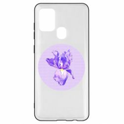 Чохол для Samsung A21s Cockerel flower and the inscription Good day