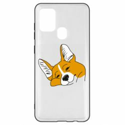 Чохол для Samsung A21s Corgi is dozing