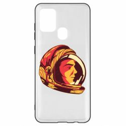 Чехол для Samsung A21s Cosmonaut in a spacesuit