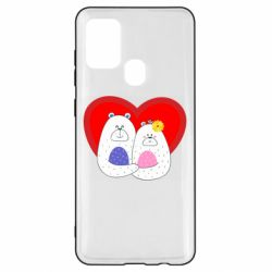 Чохол для Samsung A21s Couple Bears
