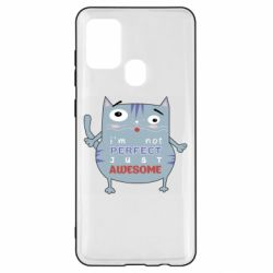 Чехол для Samsung A21s Cute cat and text