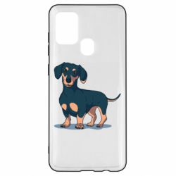 Чехол для Samsung A21s Cute dachshund