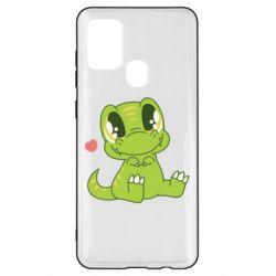 Чохол для Samsung A21s Cute dinosaur