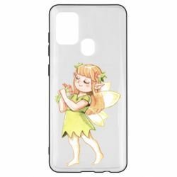 Чохол для Samsung A21s Cute Fairy in watercolor style