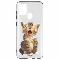 Чохол для Samsung A21s Cute kitten vector