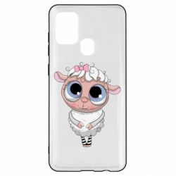Чехол для Samsung A21s Cute lamb with big eyes