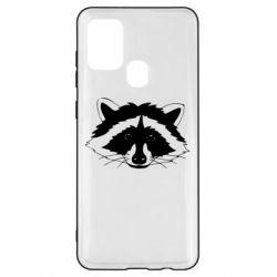 Чохол для Samsung A21s Cute raccoon face