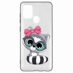 Чехол для Samsung A21s Cute raccoon