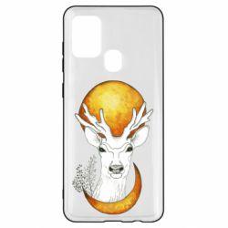 Чехол для Samsung A21s Deer and moon