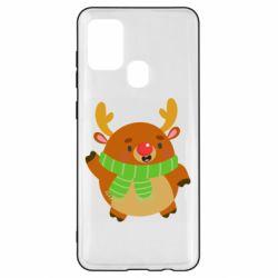 Чехол для Samsung A21s Deer in a scarf