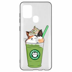 Чехол для Samsung A21s Delicious cat