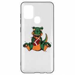 Чехол для Samsung A21s Dinosaur and ball