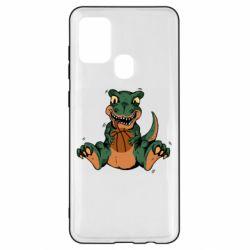 Чехол для Samsung A21s Dinosaur and basketball