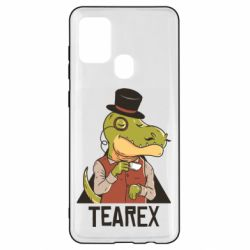 Чохол для Samsung A21s Dinosaur with tea