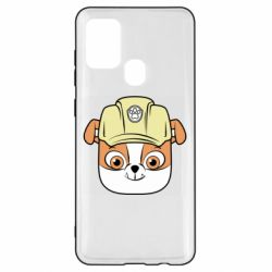 Чохол для Samsung A21s Dog in helmet