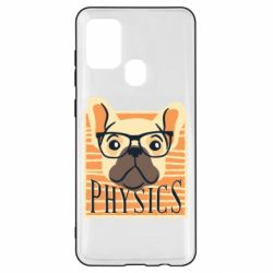 Чехол для Samsung A21s Dog Physicist