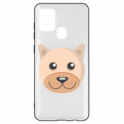 Чехол для Samsung A21s Dog with a smile
