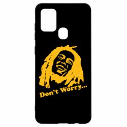 Чехол для Samsung A21s Don't Worry (Bob Marley)