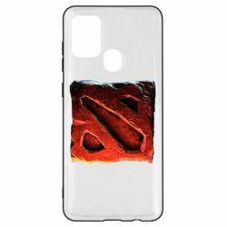 Чехол для Samsung A21s Dota 2 3d Logo
