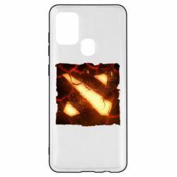 Чехол для Samsung A21s Dota 2 Fire Logo