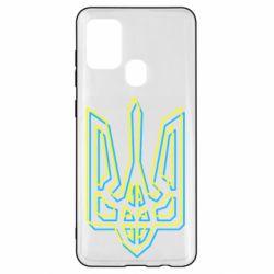 Чехол для Samsung A21s Double yellow blue trident