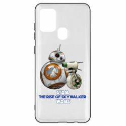 Чехол для Samsung A21s Droids BB 8 and  D O  star wars the rise of skywalker