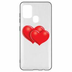 Чехол для Samsung A21s Два сердца