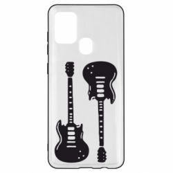 Чохол для Samsung A21s Дві гітари