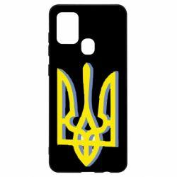 Чехол для Samsung A21s Двокольоровий герб України