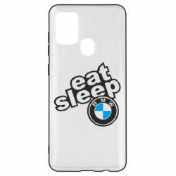 Чохол для Samsung A21s Eat, sleep, BMW