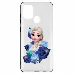 Чохол для Samsung A21s Elsa and roses