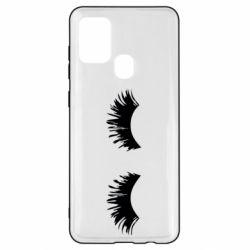 Чохол для Samsung A21s Eyelashes