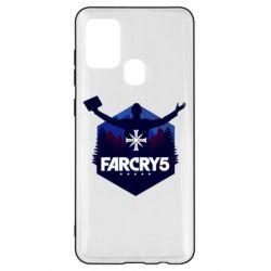 Чохол для Samsung A21s Far cry 5 silhouette Joseph Seed