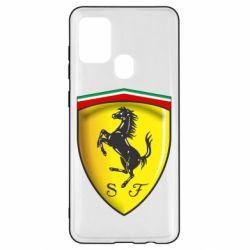 Чехол для Samsung A21s Ferrari 3D Logo