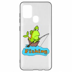 Чехол для Samsung A21s Fish Fishing