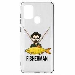 Чохол для Samsung A21s Fisherman and fish