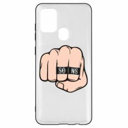 Чехол для Samsung A21s Fist with rings SONS