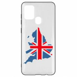 Чехол для Samsung A21s Флаг Англии