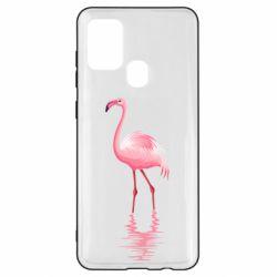 Чохол для Samsung A21s Фламинго