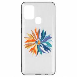Чохол для Samsung A21s Flower coat of arms of Ukraine