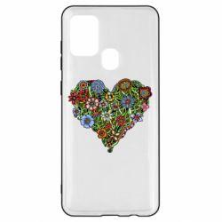 Чохол для Samsung A21s Flower heart