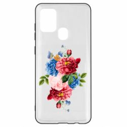 Чохол для Samsung A21s Flowers and butterfly