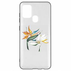 Чехол для Samsung A21s Flowers art painting