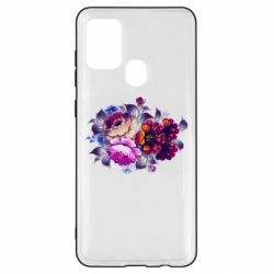 Чехол для Samsung A21s Flowers in a cold shade