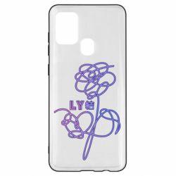 Чехол для Samsung A21s Flowers line bts