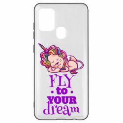 Чохол для Samsung A21s Fly to your dream and lion