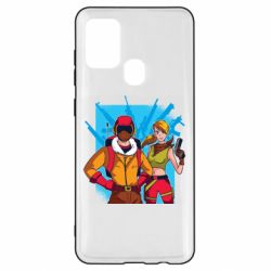 Чехол для Samsung A21s Fortnite art